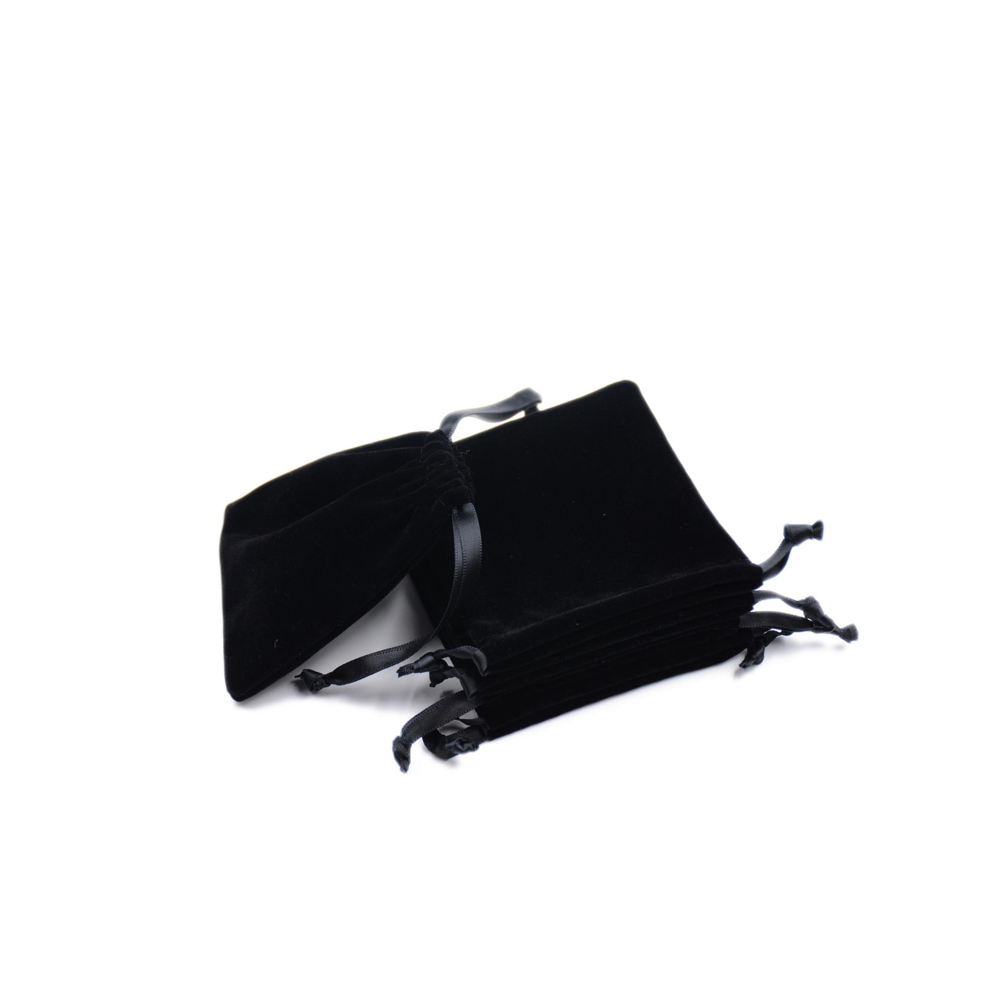 Two side pull pure color custom jewelry packaging bag