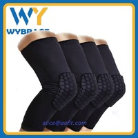 Manufacturer Supply Knee Support Pads Compression Honeycomb Sports Basketball Knee Sleeve Pads for Protect Knee