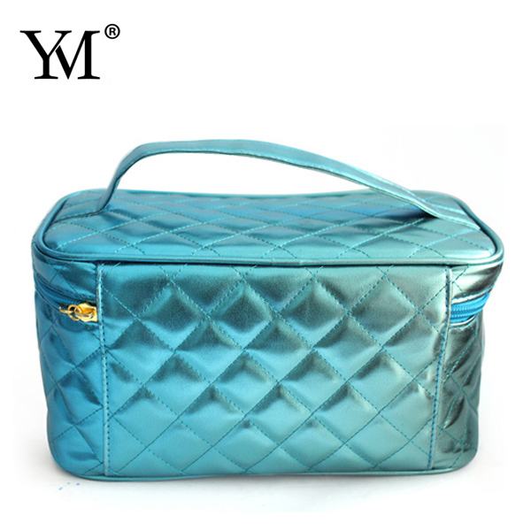 Wholesale PU Makeup Cosmetic Tote Bag Carry Case With Handle