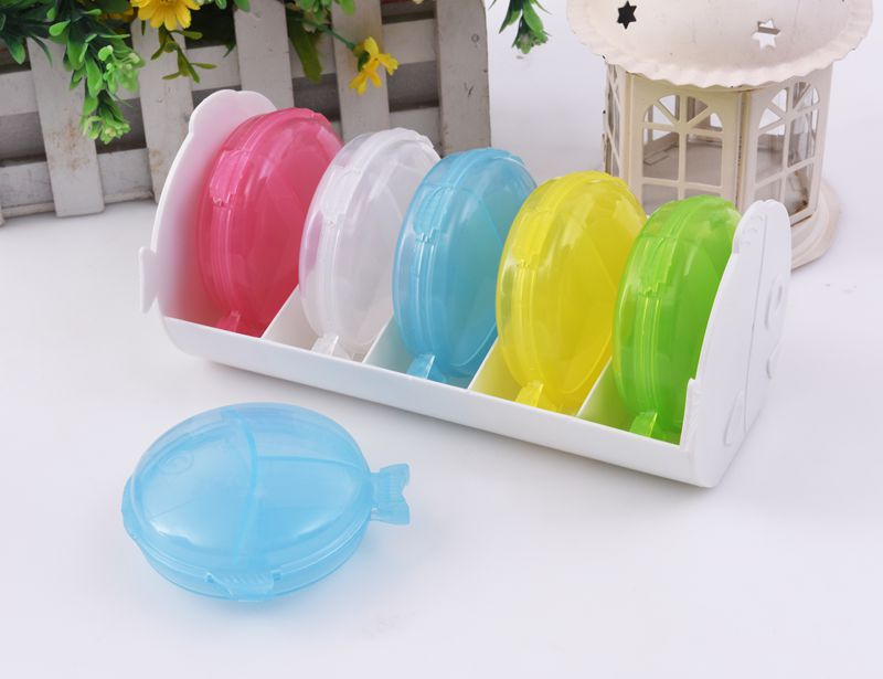 Colorful double fish plastic 30 day pill box