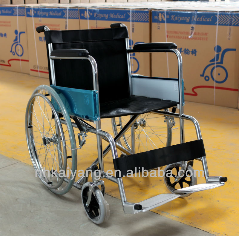 Shandong Kaiyang Top sell Economy steel manual standard wheelchair KY809