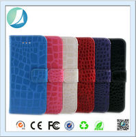 Good quality smooth cover rugged leather Crocodile skin case for iphone 5