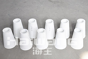 Customized Wear Resistant Alumina Ceramic Tapered Tube / Pipe for Coal Industry