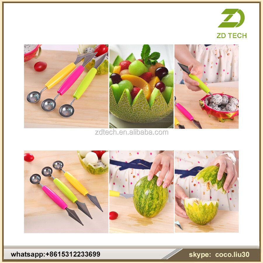 Amazon Best Seller Fruit And Vegetable Carving Tools Melon baller Melon Scoops ZDS1533