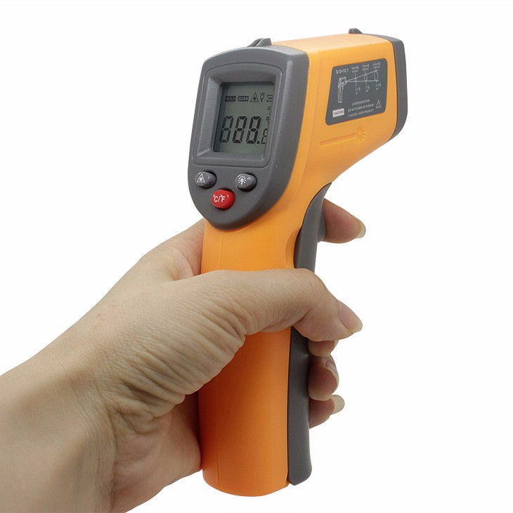 Non contact Digital Laser infrared thermometer GS320 Themperature Pyrometer IR Laser Point Gun digital laser thermometer