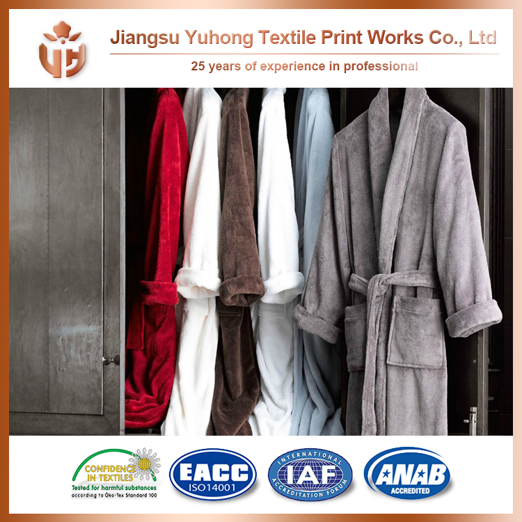 High Quality Home Textile Short Terry Cloth Robe With Zipper For Whole Sale With Low Price