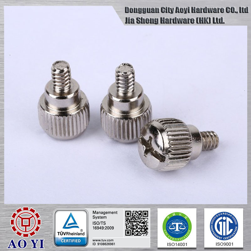China manufacturer knurled head cap screw
