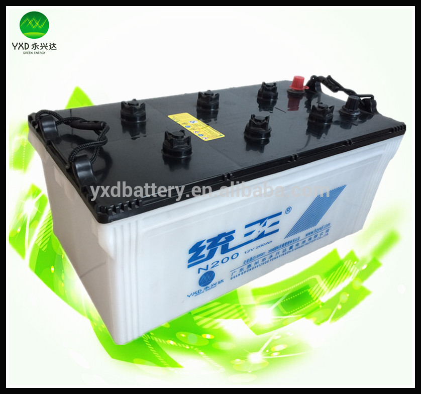 12v 200ah battery dry storage car battery