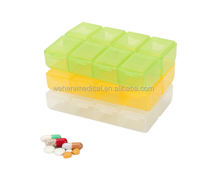 weekly 8 cases small pocket plastic portable pill box