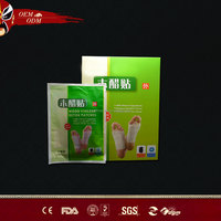 Best Selling New product 100% Natural Chinese Herbal and Bamboo Slimming Detox Foot Patch