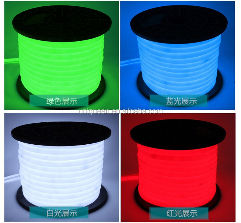 KEEN 220V Custom IP68 Colorful Flexible Led Neon Light Outdoor Ultra-thin Easy Bend Led Neon Flex Tube Rope Light for Holiday