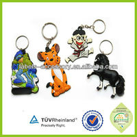 2015 china export brand fashion stylish custom 3d no minimum keychain