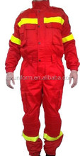 mens button front hi vis fire retardant workwear coverall suit