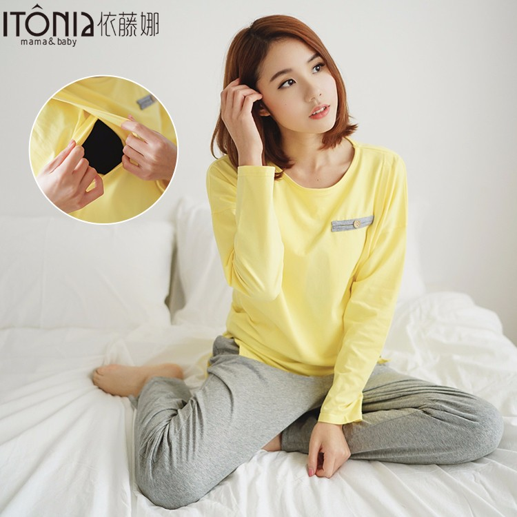 wholesale cotton pajamas sexy maternity breastfeeding sleepwear