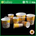 Popcorn packaging bucket for cinema paper popcorn cup/tub