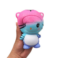 2018 trending products wholesale pu slow rising kawaii tiger cat squishy animals scented soft stress relief rubber toys for kids