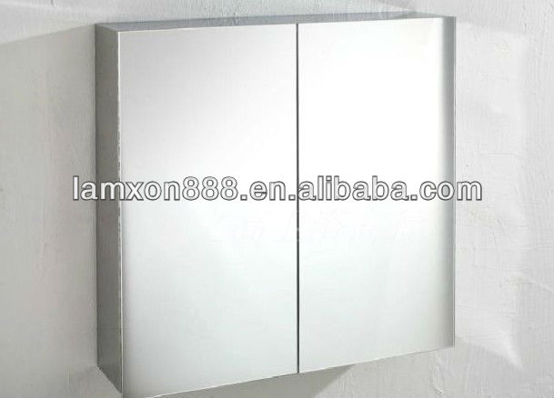 Aluminum Modern Bathroom Cabinet with Shelves for Storage