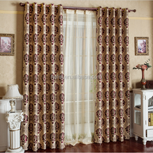 chinese latest designs of jacquard fabric price per meter blackout curtain