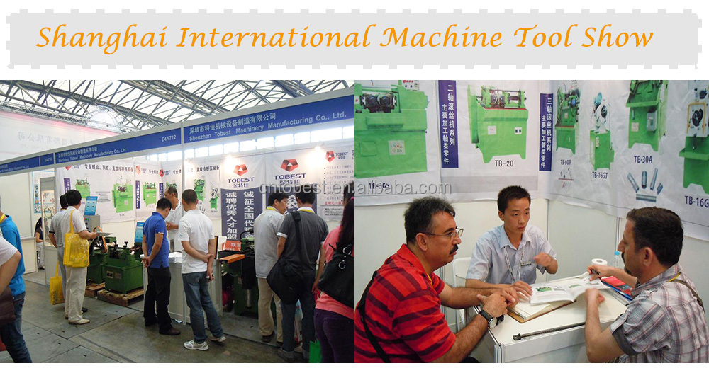 pipe square threading machine round bar thread making machine