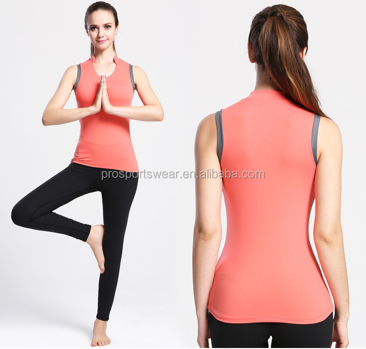 Wholesale Training Exercise Yoga Tank Tops Women Quick Dry Sleeveless Shirt Workout Running Tops Clothing Womens Vest