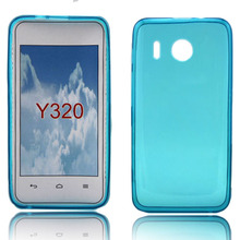 Sky blue smooth clear water phone case for Huawei Y320 tpu material reasonable price