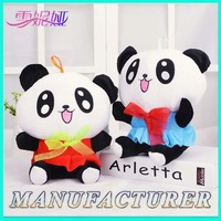 Over 8 years experience cute custom wholesale plush big eyes panda bear stuffed toys
