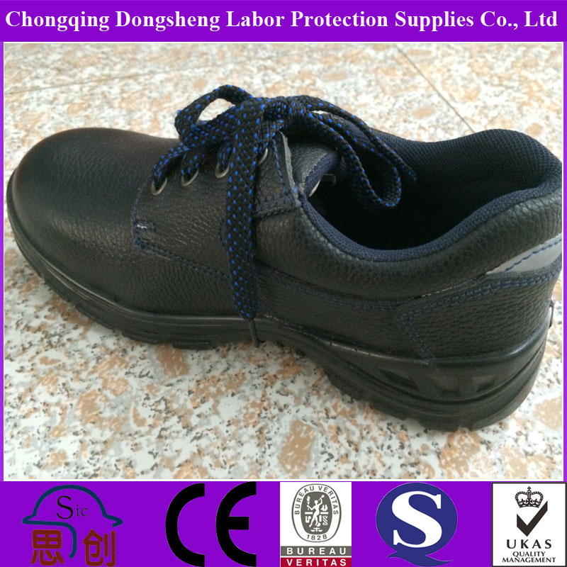 Low heel steel toe safety bodyguard providing safety shoes