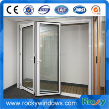 China gold supplier Popular UAS&Australia style aluminum exterior glass folding door