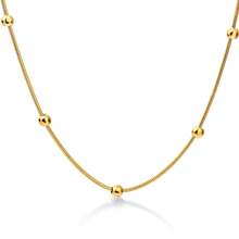 2017 Trend Of New Style Round Gold Ball Gold Necklace Models