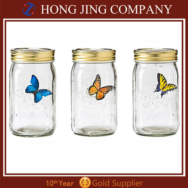 Hong Jing Business electronic butterfly in a jar