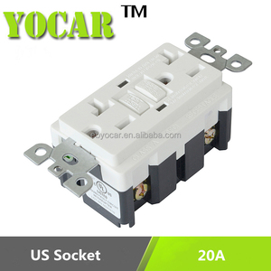 15A 20A American Socket Electrical GFCI Receptacle Outlet