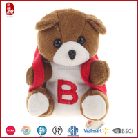 Popular BSCI high quality safe material teddy bear handbags in China for children