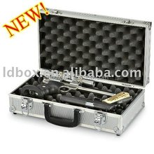 black aluminum gun box