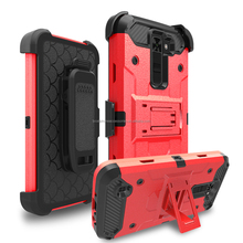 Heavy Duty Armor ShockProof Cover Dual Layer Holster Kickstand Robot Combo Case For LG K7 K8 Tribute 5