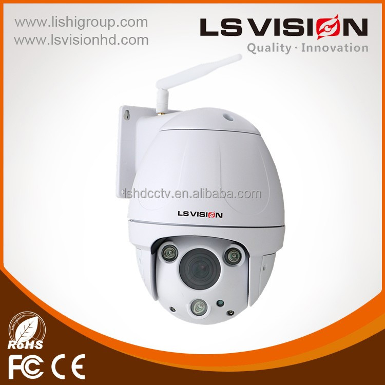 LS VISION 6-22Mm Motorized Zoom Lens Ip66 1080P Waterproof Connector Wifi Ptz Outdoor Dome Ip Camera