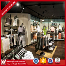 Delicate newly retail men's clothing garment shop interior design