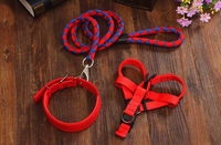 pet items Strong nylon material dog harness pet premium collar and leash free sample