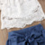 2018 Fashion Children Girl Summer Clothes Off Shoulder Lace White Tops+Denim Shorts Ruffles Bow Skirt Outfit Kids Clothing Set