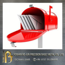 china supplier ISO certificated custom design drawing mailbox , letter box