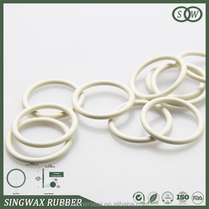 Singwax oem white rubber silicone o ring for lamps