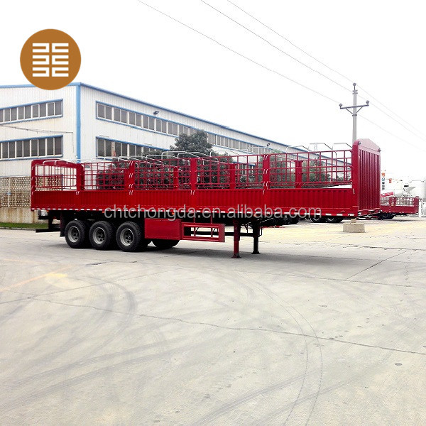CHTC Heavy Duty Three Axle Bulk Cargo Stake Semi Trailer