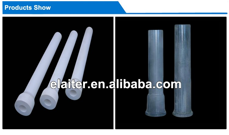 Fast preheat aluminum titanate riser tube/pipe/stalk for aluminum industry