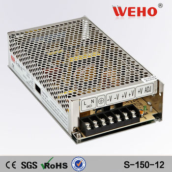 Professional manufacturer 150w 220v/110v ac to dc switch mode power supply 12v 12.5a smps