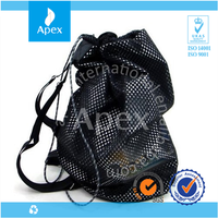 Fine mesh basketball sport bag with shoe compartment