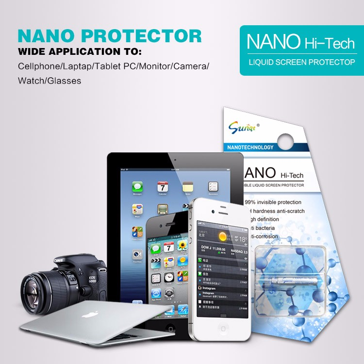 Anti Scratch Anti Shock Nano Coating Technology Liquid Screen Protector for Smartphone and Laptop glass screen