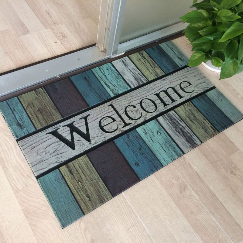 Fire Resist Entry Welcome Flocked Entrance Mats