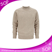 Plain wool men sweaters and pullovers o neck