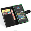 Anti-scartch fancy flip leather case cover for nokia lumia 720