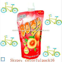plastic juice bottles wholesale/blank plastic container made in china/recyclable stand up bag with cap for juice