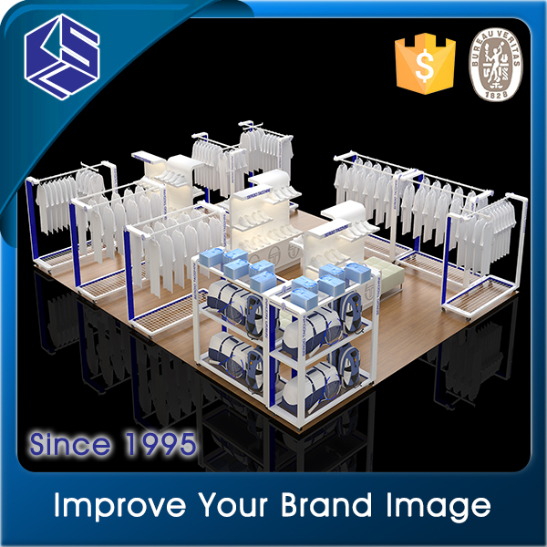 Hot new products for aesthetic appearance phoroptor/clothing store model display cases/way hanging metal t shirt display